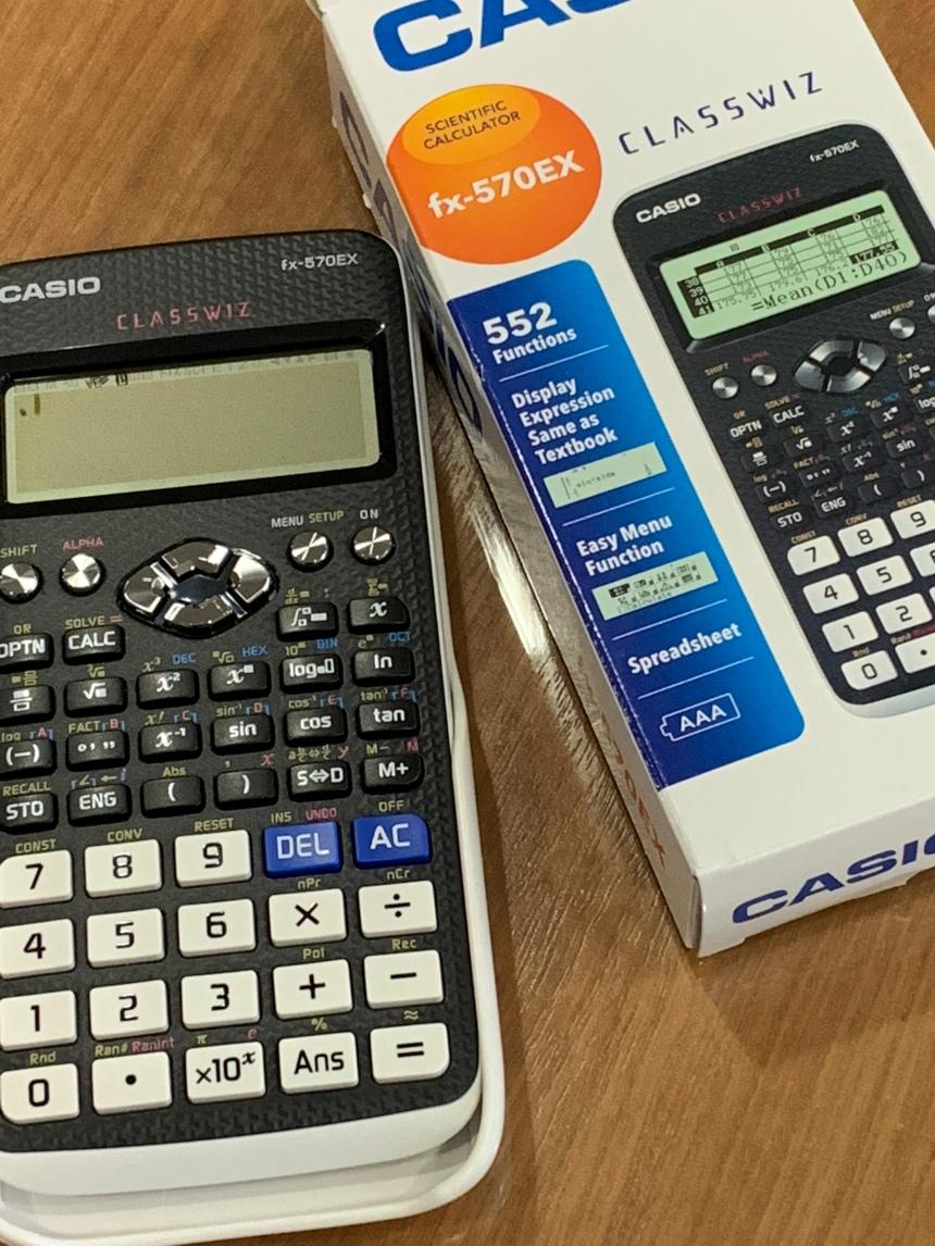 Guru guru dapat kalkulator baru